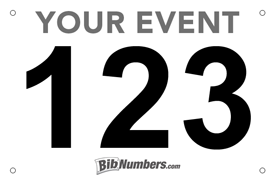 image about Printable Race Bibs Free named Bib Layout Alternate options and Samples »
